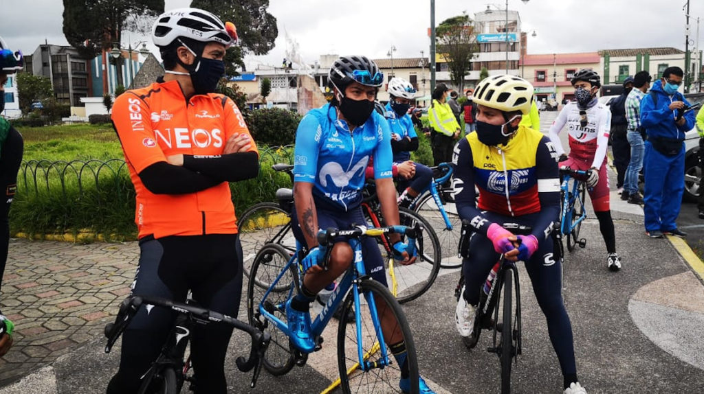 Ciclistas profesionales reclaman por la muerte de Rubén Tatés en Tulcán