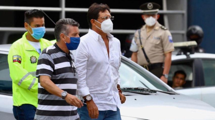 Momento de la detención del prefecto del Guayas, Carlos Luis Morales, en Guayaquil el 3 de junio de 2020.