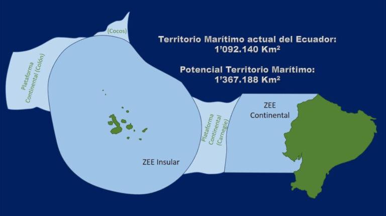 Zonas Económicas Exclusivas ecuatorianas y plataformas continentales.