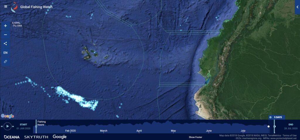 EE.UU. apoya esfuerzos de  Ecuador en contra de pesca ilegal en Galápagos