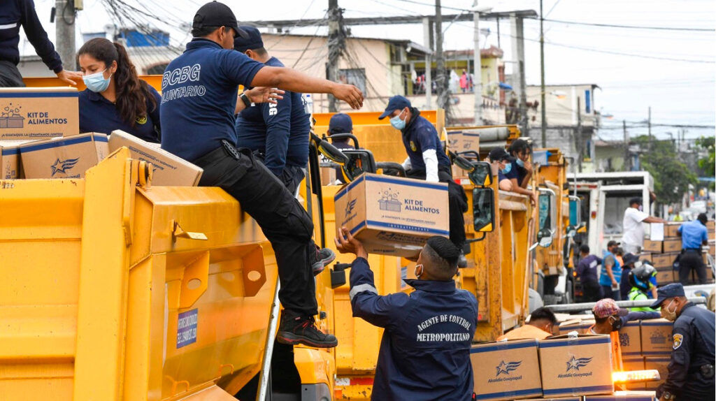 Municipio de Guayaquil cerró plan de entrega de alimentos