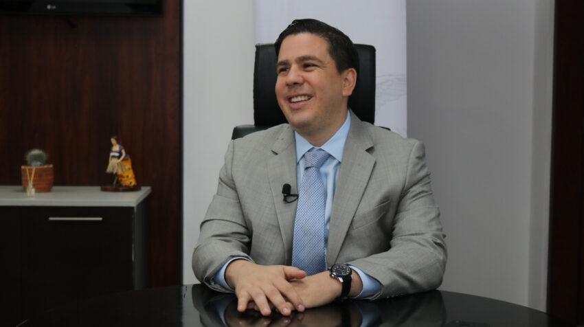 Nicolás Issa Wagner en las oficinas de Inmobiliar, el 5 de febrero de 2018.