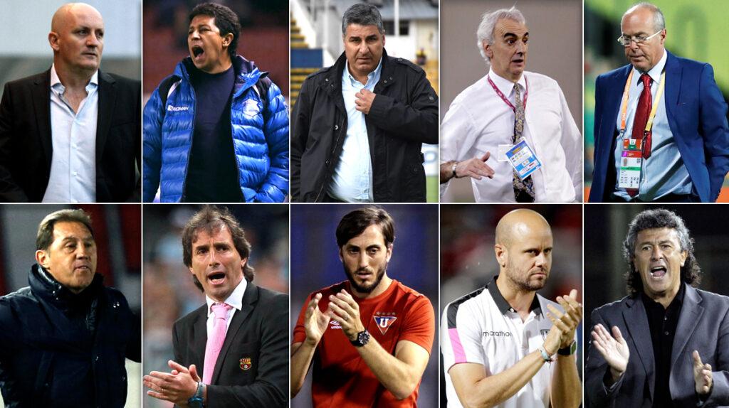 Los 10 candidatos que tiene la FEF para dirigir la selección ecuatoriana