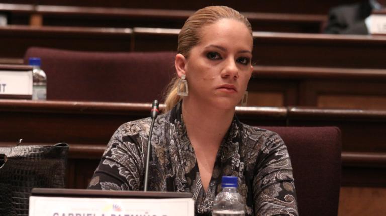 Gabriela Pazmiño cuando era asambleísta el 7 de julio de 2010.