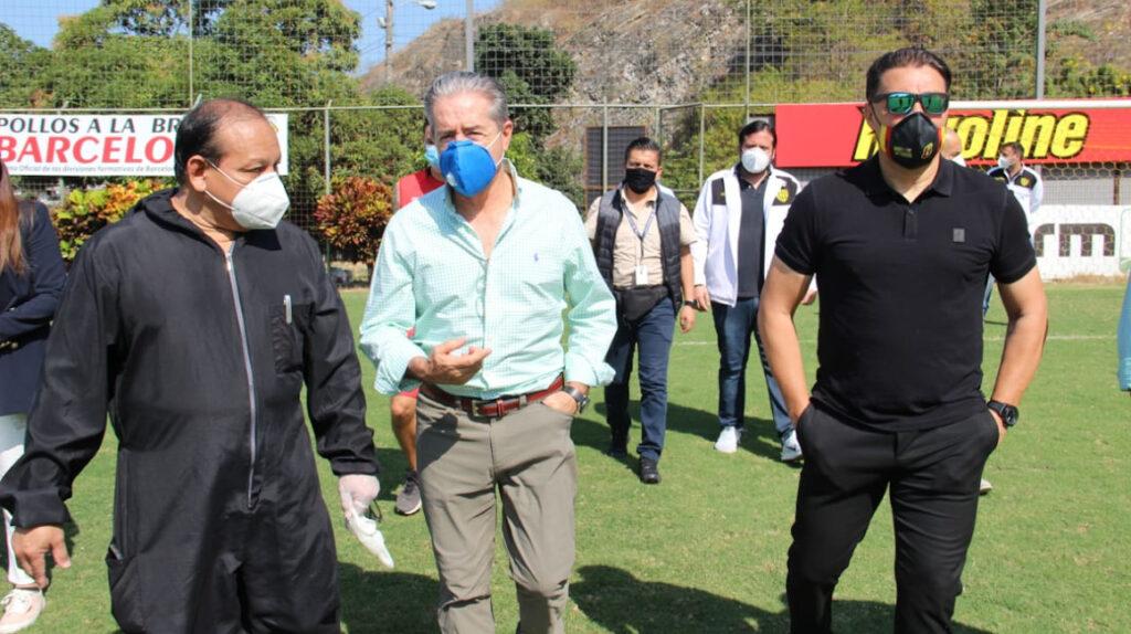 El COE nacional inspeccionó las medidas sanitarias en el entrenamiento de Barcelona