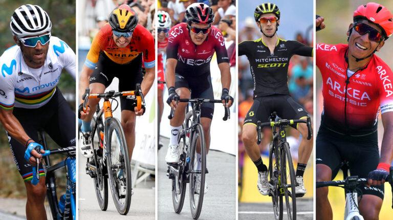 Alejandro Valverde, Mikel Landa, Richard Carapaz, Adam Yates y Nairo Quintana, algunas de las figuras que correrán la Vuelta a Burgos 2020.