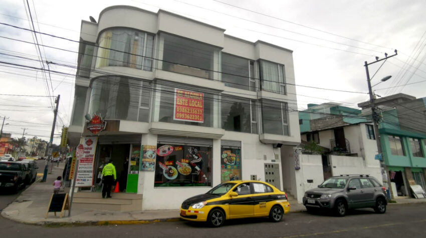 Un local comercial en arriendo en el norte de Quito, el 22 de julio de 2020.