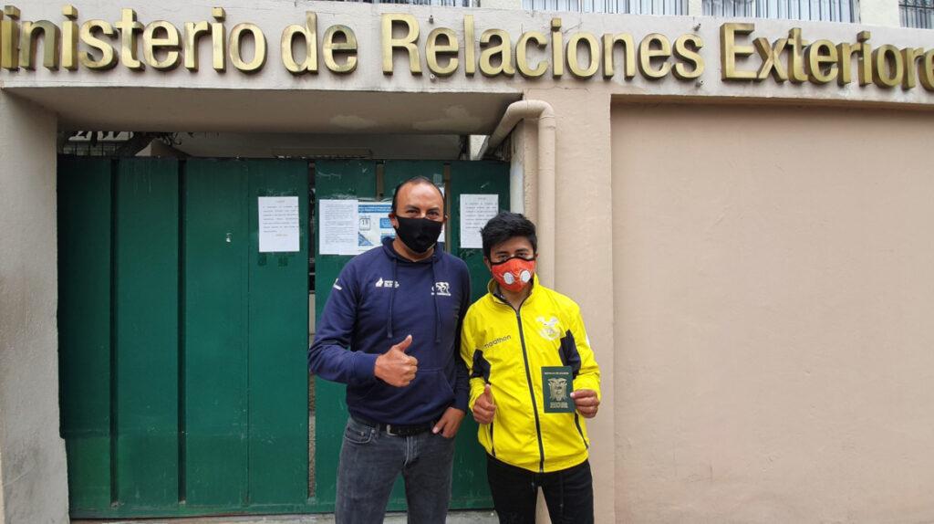 Alexander Cepeda no pudo viajar a Europa por un problema con su pasaporte