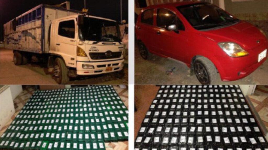 Policía incauta 460 paquetes de cocaína valorados en USD 18 millones
