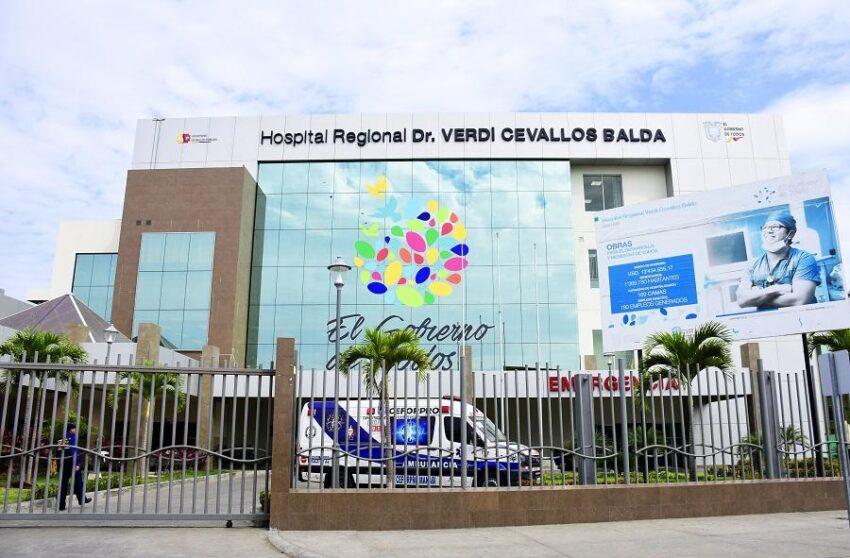 Imagen referencial del Hospital de Portoviejo, en Manabí.