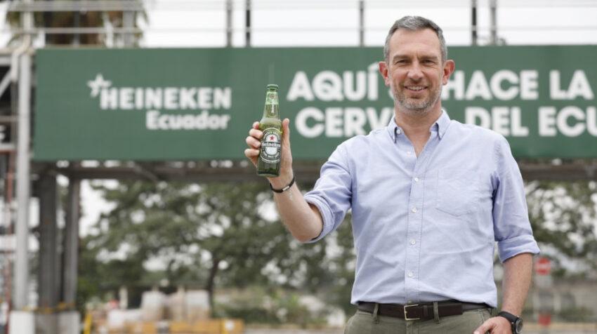 El director ejecutivo de Heineken en Ecuador, Ludovic Auvray, en la planta de producción en Guayaquil, en julio de 2020.