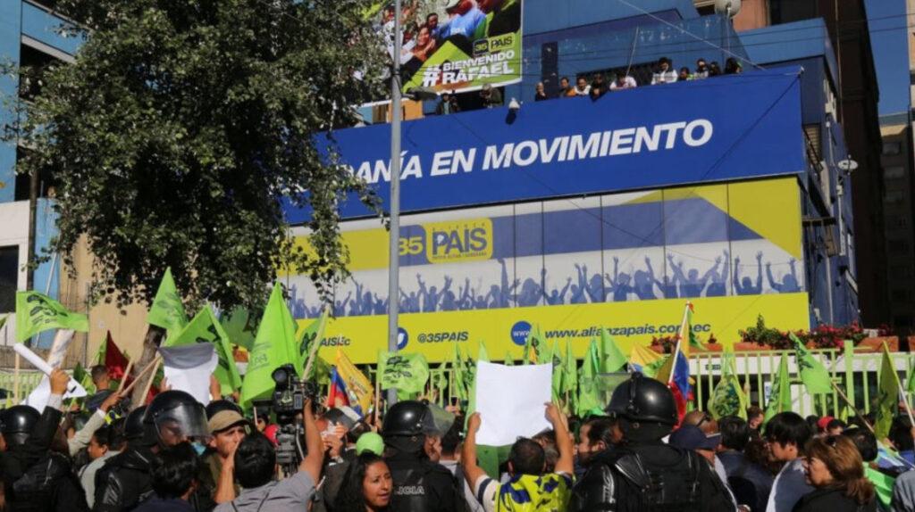 La crisis en evidencia: Alianza PAIS vende su simbólica sede en Quito