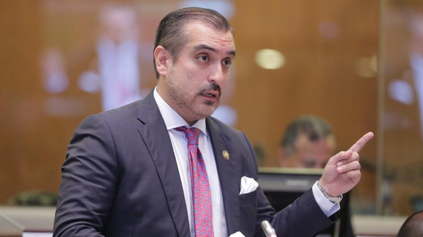 El exasambleísta Vicente Taiano durante una sesión del pleno el pasado 11 de junio de 2019.