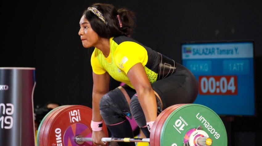 Tamara Salazar compitiendo en los Juegos Panamericanos 2019 en Lima (Perú).