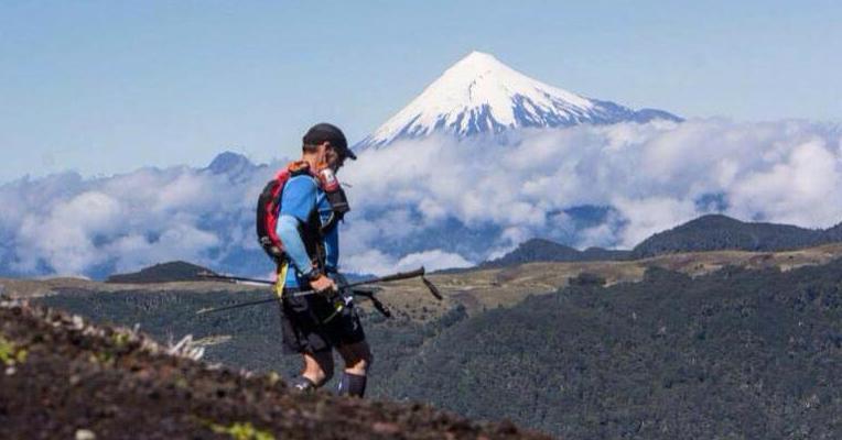 Pulga Torres, en el cruce de los Andes.