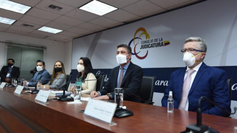 Autoridades del Consejo de la Judicatura se pronunciaron sobre la sentencia de la Corte Constitucional acerca del error inexcusable, el 24 de agosto de 2020.
