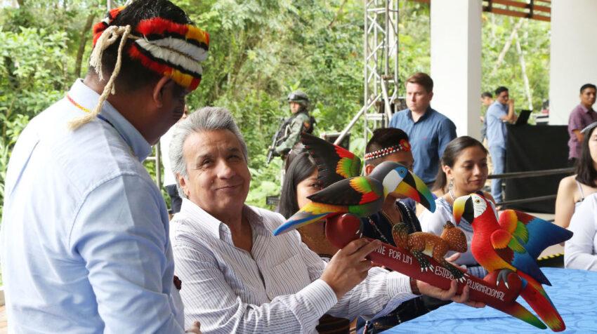 En Tena el 12 de febrero de 2019, el presidente Lenín Moreno entregó las nuevas instalaciones de la universidad amazónica IKIAM.