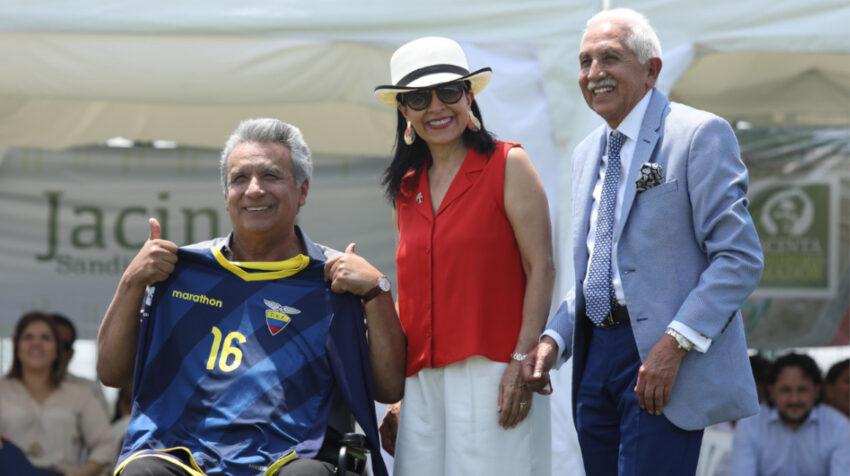 En Guayaquil, el 17 de Agosto 2018, el presidente Lenín Moreno, junto a su esposa Rocío González, inauguró la fase Jacinta Sandoford en el Parque Samanes.