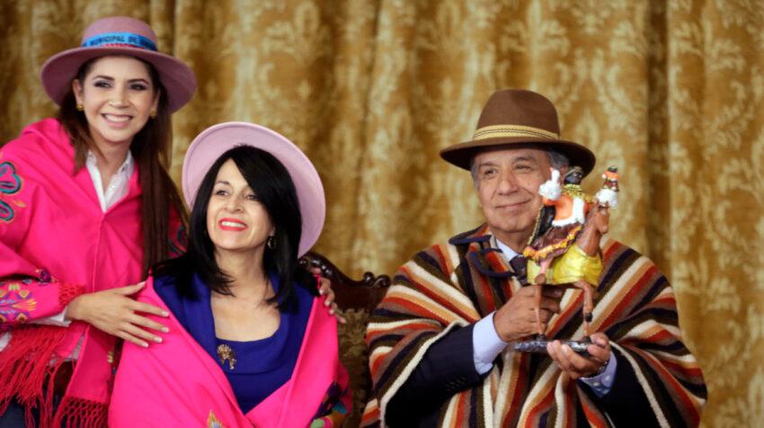 El 1 de noviembre de 2017 el presidente Moreno fue invitado a la fiesta de la Mama Negra.