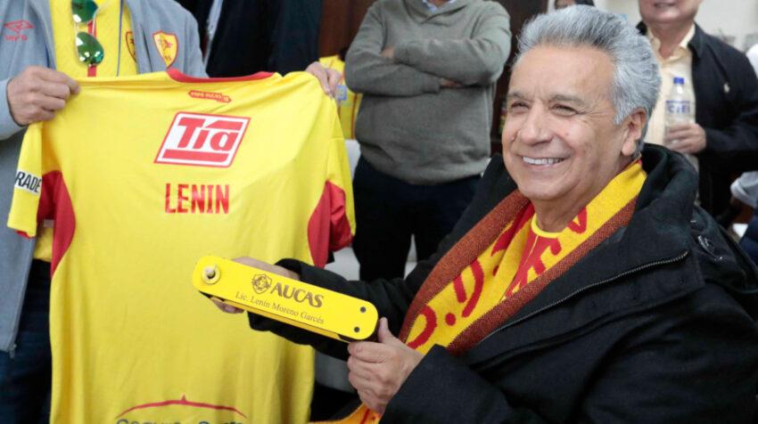El 23 de noviembre del 2019, el presidente Lenín Moreno visitó el Estadio Gonzalo Pozo Ripalda, para presenciar el encuentro entre Aucas y Barcelona.