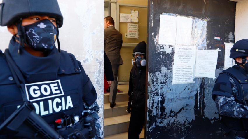 Exteriores de la cárcel El Inca el pasado 4 de agosto de 2020.