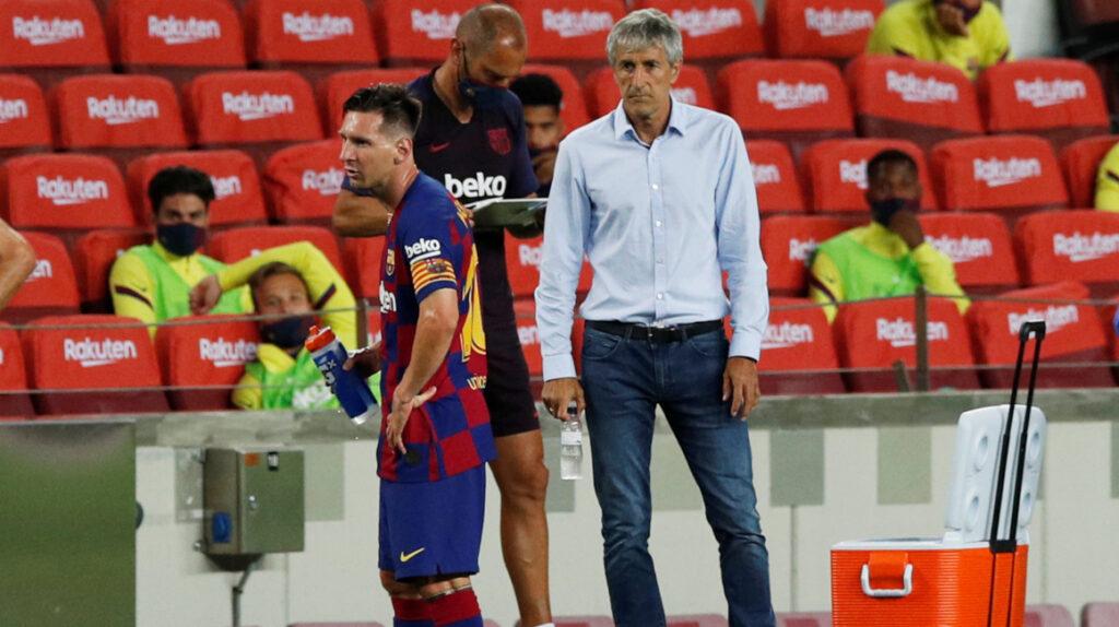 El FC Barcelona despide a Quique Setién y anuncia una reestructuración
