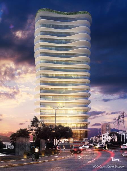 Imagen referencial del edificio Yoo Quito, en el que vivían Pérez y los israelíes.
