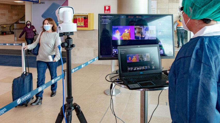 Gobierno y Municipio de Quito constataron aplicación de protocolos sanitarios en el Aeropuerto de Quito, 16 de mayo de 2020.