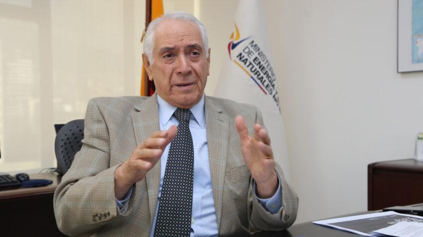 El ministro de Energía, René Ortiz, el pasado 11 de agosto de 2020.