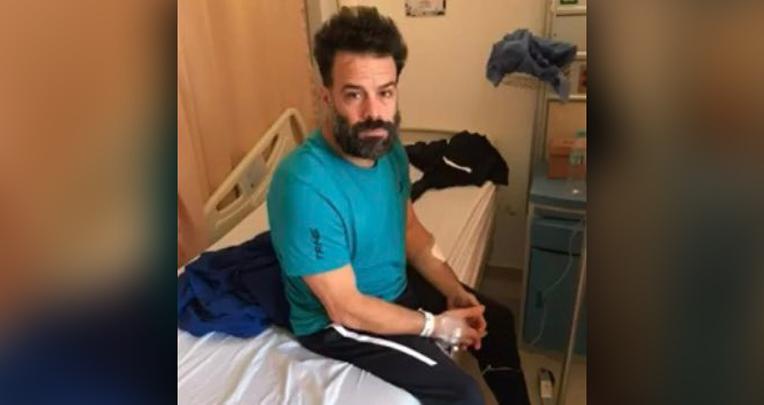 Imagen del australiano-israelí Oren Sheinman cuando estuvo en el hospital Abel Gilbert Pontón, de Guayaquil.