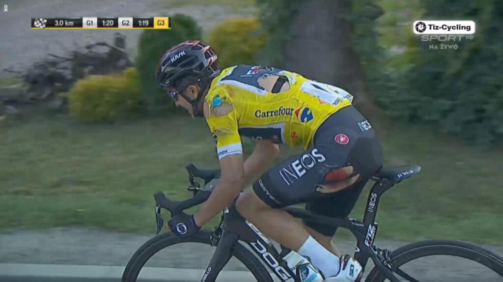 Una caída afectó a Carapaz en la cuarta etapa del Tour de Polonia
