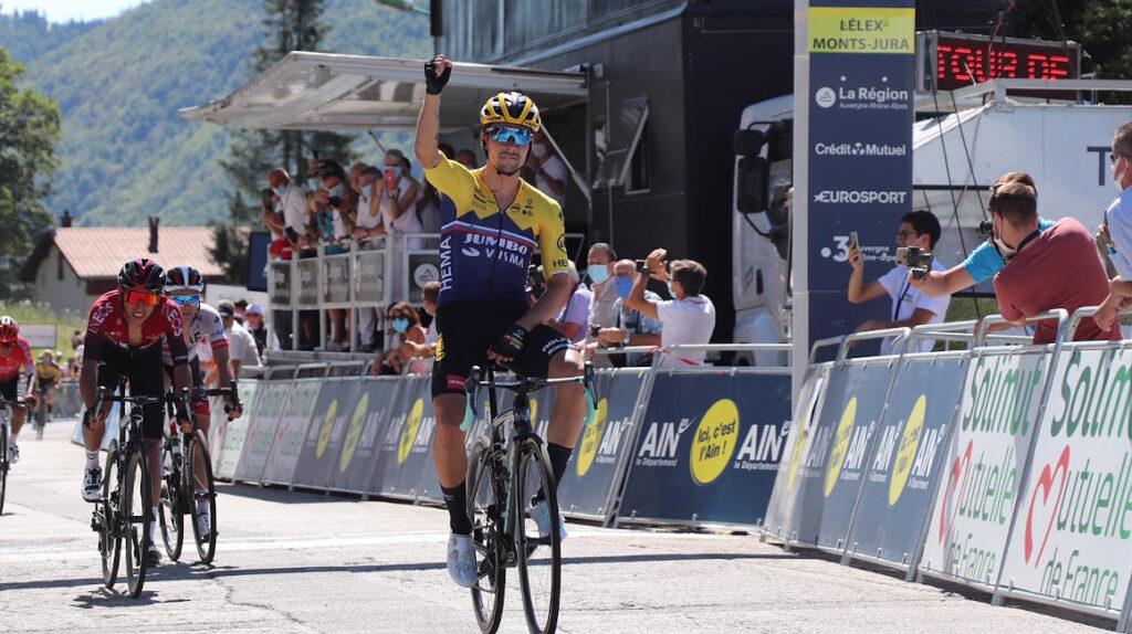 Primoz Roglic se quedó con la segunda etapa y es líder en el Tour de L'Ain