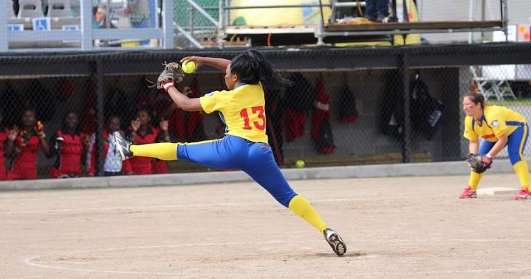 La deportista de 22 años, en un encuentro en Guayaquil con la selección nacional.