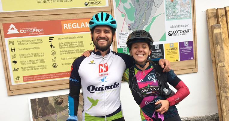 Álex Caamaño y Dani Costa y su reto en bicicleta.