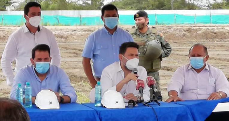 El Ministro de Transporte y Obras Públicas, Gabriel Martínez, anunció el 29 de julio de 2020 que los militares harán el hospital  de Pedernales.