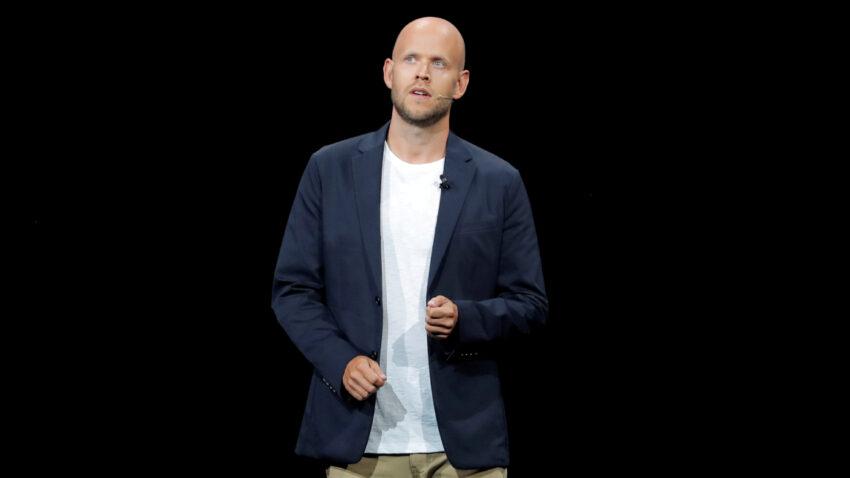 Daniel Ek habla en un evento de Samsung, en agosto de 2018, en Brooklyn, Nueva York.