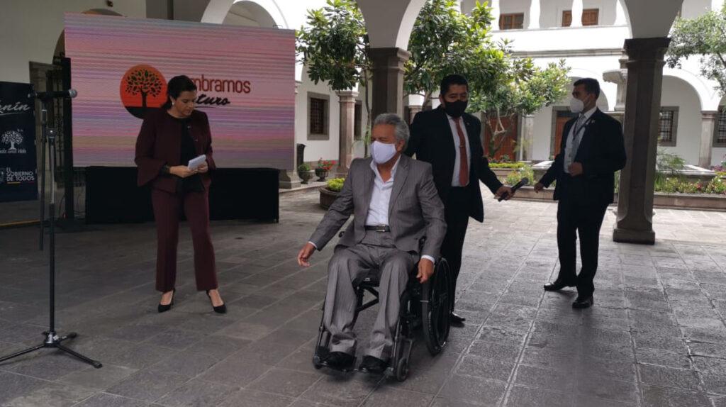 Romo se defiende y el presidente Moreno la respalda, otra vez