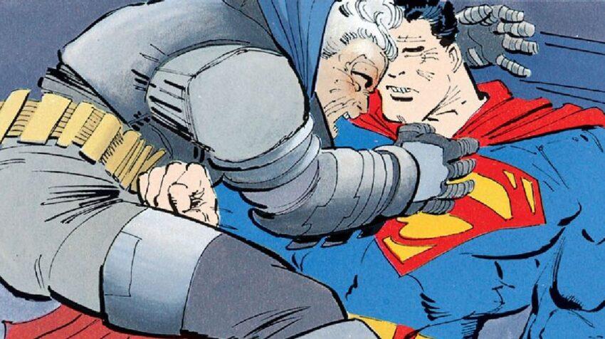 Un momento de la pelea entre Batman y Superman en