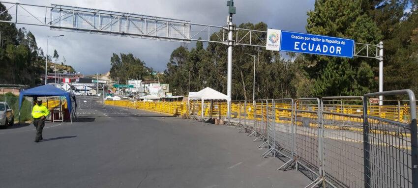 Imagen del Puente de Rumichaca, el 8 de agosto de 2020.