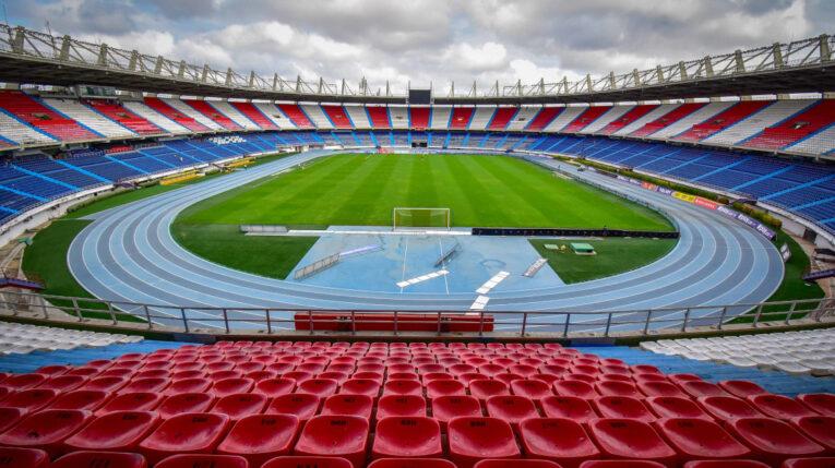 Vista panorámica del estadio Metropolitano de Barranquilla, en marzo de 2020.
