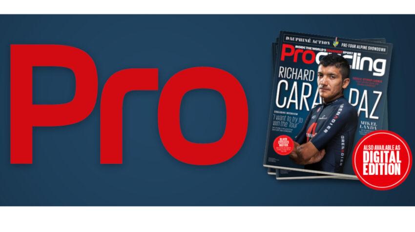 Richard Carapaz es el protagonista de la portada de la revista Procycling, en la edición de octubre.