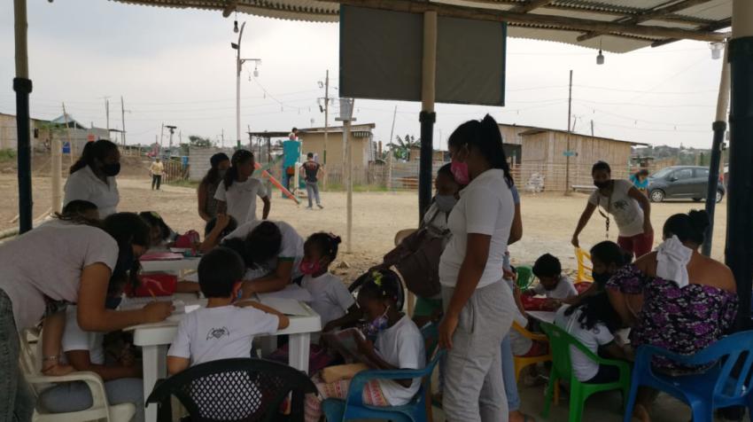 Un campamento educativo en Ciudad de Dios, en Monte Sinaí, el pasado 10 de septiembre de 2020.