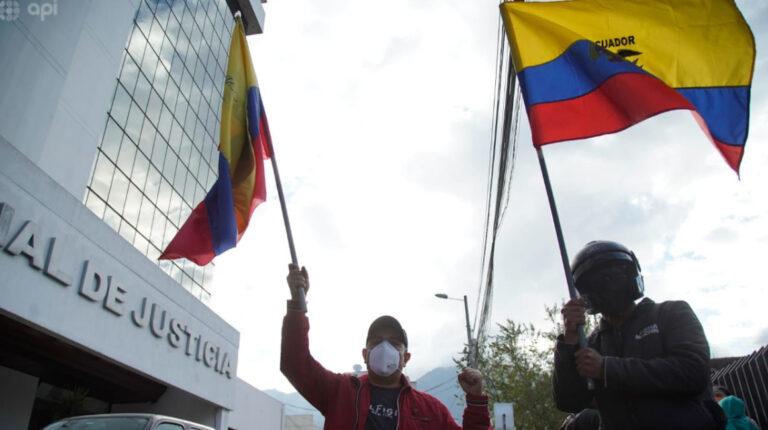 Manifestantes se concentraron en los exteriores de la Corte Nacional de Justicia, el 7 de septiembre de 2020.