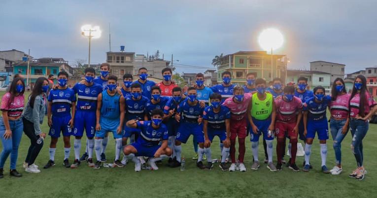 Los futbolistas después de la presentación de su uniforme, el 28 de agosto de 2020.