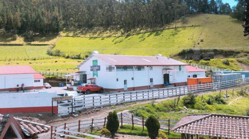 Planta de Grupo Grandes, en Sigchos, en la provincia de Cotopaxi.