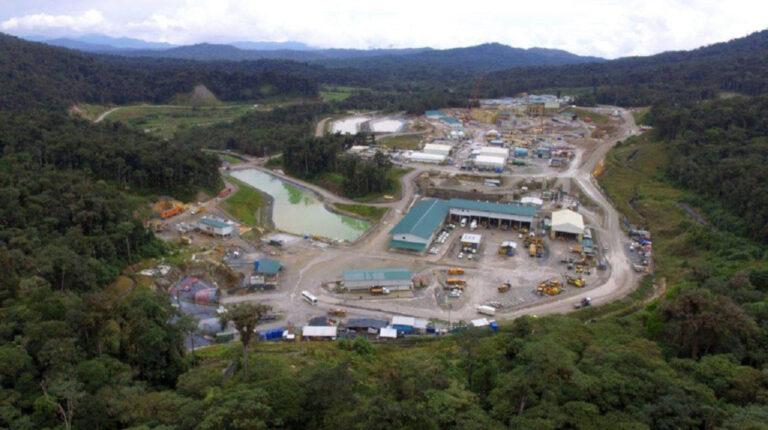 Una vista panorámica del proyecto Fruta del Norte, en Zamora Chinchipe, en julio de 2020.