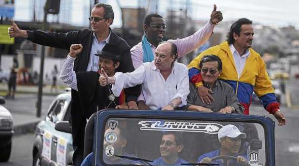 Los seis precandidatos de la Unidad de las Izquierdas, de cara a las elecciones de 2013.