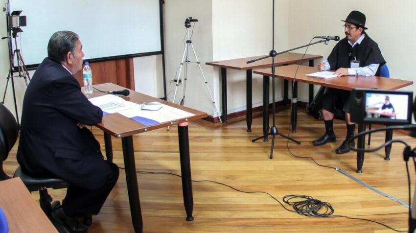Proceso de entrevistas para el concurso de jueces de la Corte Nacional, en septiembre de 2017.