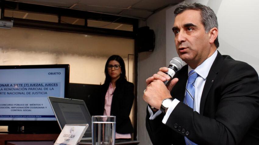 Gustavo Jalkh, expresidente del Consejo de la Judicatura, convocó a concurso para renovación parcial de la Corte Nacional, en julio de 2014.
