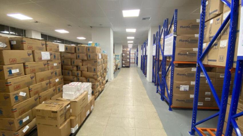 Bodega de medicinas del Hospital Teodoro Maldonado, Guayaquil. Foto tomada el 9 de julio de 2020